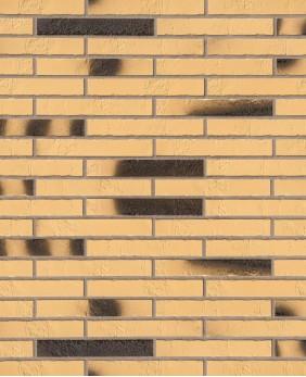 Клинкерная плитка «Gelb Kohlebrand Schieferstruktur Langformat R365»