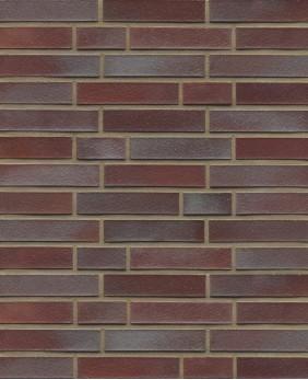 Клинкерный кирпич «Violettblau Geflammt Glatt (WK 10 - 40/LF mm)»
