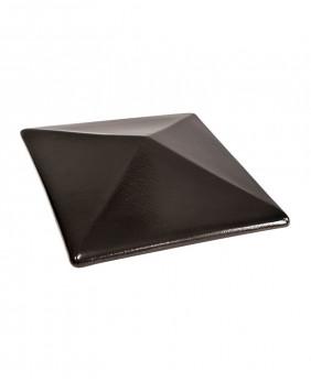 Керамические клинкерные колпаки для столбов «Ониксовый черный - 17»
