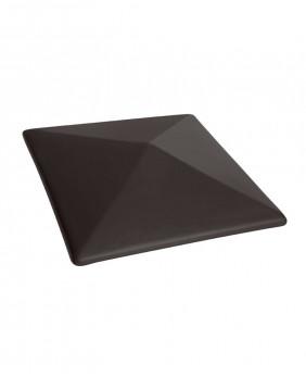 Керамические клинкерные колпаки для столбов «Вулканический черный - 18»