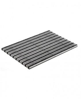 Решетка алюминиевая с войлоком (цвет - антрацит) «ACO - 100 на 50 см»