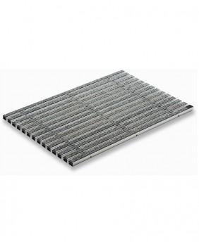 Решетка алюминиевая с войлоком (цвет - серый) «ACO - 100 на 50 см»