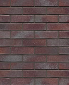 Клинкерный кирпич «Violettblau Geflammt Glatt (WK 10 - 52 mm)»